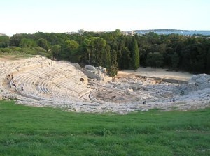 Ancient Greek theater in Siracusa