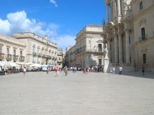 Piazza in Ortigia, Sicily